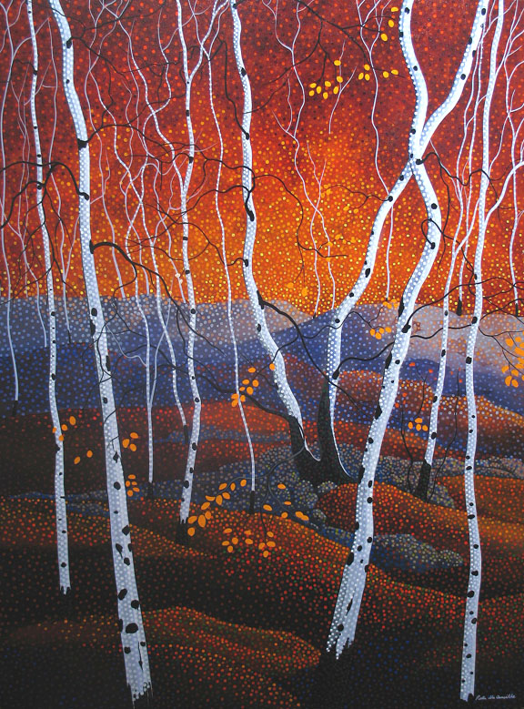 "Peter McConville, ""Aspen Hills"" acrylic on canvas, 40x30 in."