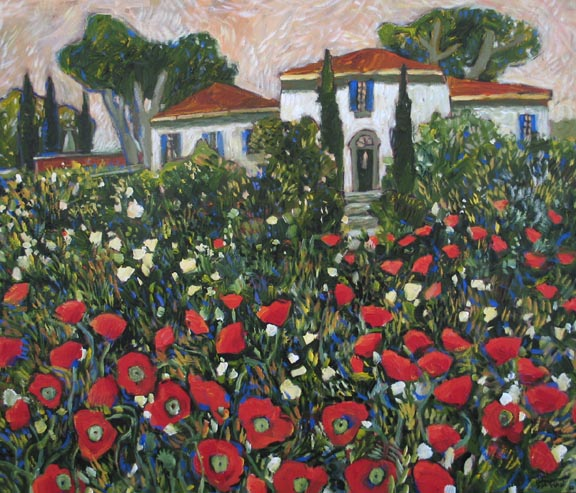 coquelicots-en-provence-30x36in-ac